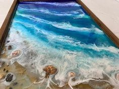 107 – Epoxy Resin Art – Step by Step Tutorial – Ocean, Beach, Sand & Movement – resin crafts Epoxy Resin Table, Epoxy Resin Art, Acrylic Resin, Acrylic Pouring, Diy Resin Art, Diy Resin Crafts, Beach Art, Ocean Beach, Resin Tutorial
