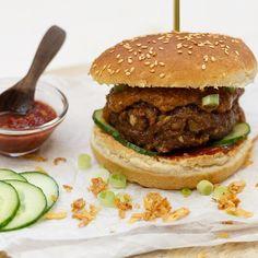 BBQTIP! Deze waanzinnig lekkere Indoburger kan ook uitstekend op de Hamburger Hotdogs, Candy S, Falafel, Empanadas, Fajitas, Hot Dogs, Barbecue, Brunch, Diorama