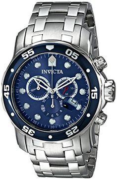 Invicta Men's 0070 Pro Diver Collection Chronograph Stainless Steel Watch Invicta http://www.amazon.com/dp/B000820YBU/ref=cm_sw_r_pi_dp_iRptwb10RMHKH