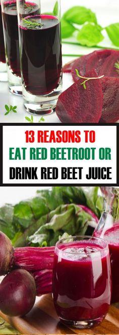 13 Reasons to Eat Red Beetroot Or Drink Red Beet Juice #healthydrinks #reasons #eatredbeetroot #drinkred #beetjuice