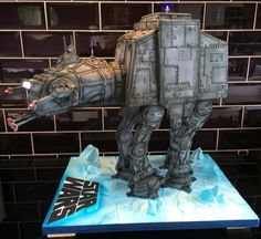 Star Wars At-At cake Paul of Happy Occasions Cakes Star Wars Cake, Star Wars Party, 3d Cakes, Cupcake Cakes, Fondant Cakes, Cake Decorating Supplies, Food Decorating, Extreme Cakes, Gravity Defying Cake