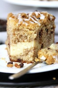 This Cheesecake Banana Bread Crumb Cake is a rich banana cake filled with cheesecake and crumb topping on the top. Start your day with this dessert and a cup of coffee or tea Banana Recipes, Cake Recipes, Dessert Recipes, Baking Desserts, Cake Baking, Food Garnishes, Sweet And Spicy, Health Desserts, Vegan Chocolate