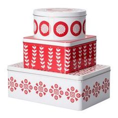 Ikea Tins - great for Xmas homemade cookies and the like presents $9.99. I missed out on these last Christmas. when I got to IKEA they were sold out!