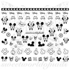 Disney Nail Art Mickey Minnie Mouse Nail Art Nail Water Decals Wraps