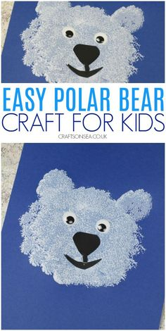 polar bear craft for kids easy preschool toddler This cute polar bear craft for toddlers is a great way to practice fine motor skills and is perfect for winter or arctic animal crafts. Toddler Preschool, Preschool Crafts, Toddler Activities, Winter Crafts For Toddlers, Animal Crafts For Kids, Crafts Toddlers, Thema Winter Im Kindergarten, Preschool Winter, Puppy Crafts