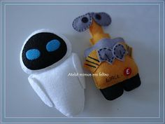 Wall-E & Eve felties