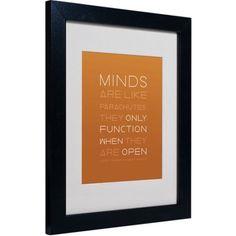 Trademark Fine Art An Open Mind II Matted Framed Canvas Art by Megan Romo, Size: 16 x 20, Multicolor