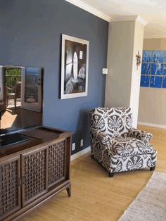 Dark Accent Wall Camoflauges Tv Walls Paint Paper In