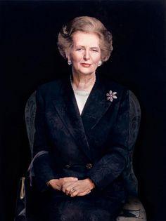 Frank Davis portrait of Margaret Thatcher