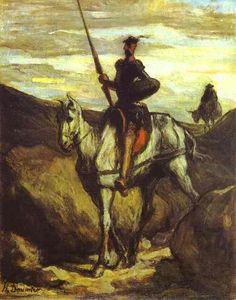 Honore Daumier, Don Quixote and Sancho Pansa