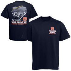 f71720fbede Auburn Tigers War Eagle Field Fight Song T-Shirt - Navy Blue