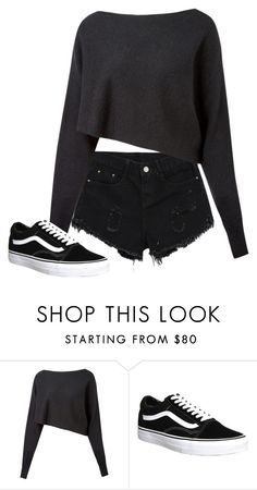 """""""Untitled #1522"""" by street-style-98 ❤ liked on Polyvore featuring Crea Concept and Vans"""