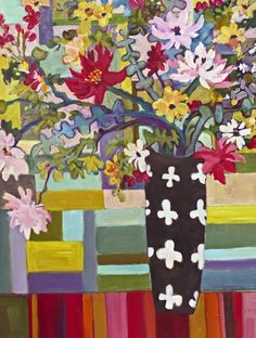 Contemporary, colorful abstract, landscape & floral paintings by Annie O'Brien Gonzales