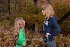"""""""I was on a hike a few days ago and ran into this little girl and her family there taking Christmas card photos, so we posed for one!! Aw this makes me all happy.""""- Taylor Swift"""