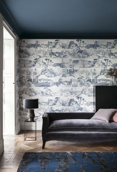 A contemporary interpretation of a Toile de Jouy, depicting scenes within the eponymous Abbey Gardens.