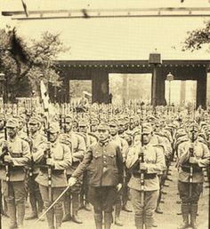 Visit to Yasukuni Shrine of the Imperial Japanese Army Soldiers. 大日本帝国陸軍靖国神社参拝