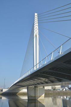 Pont Éric Tabarly, Loire, Nantes, France