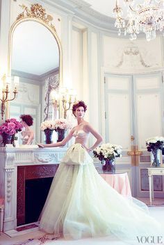 Karlie Kloss in Dior at the Ritz Paris from  Vogue 2009
