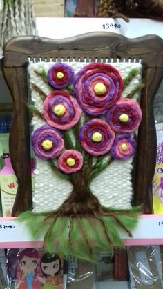 TELAR DECORATIVO ARBOL Needle Felting, Four Square, Loom, Macrame, Cactus, Weaving, Tapestry, Crochet, Fabric