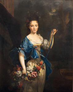 Nicolas de Largillierre (1656-1746), Portrait présumé de madame de Harlay, huile sur toile, 135 x 105 cm.