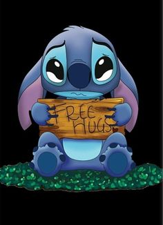 I give you a hug, Stitch! Please don't cry!