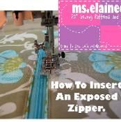 How to Insert an Exposed Zipper - via @Craftsy (downloaded)