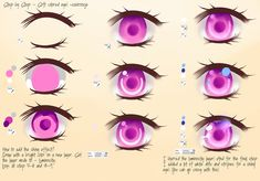 Step By Step - Soft colored eye by Saviroosje on DeviantArt