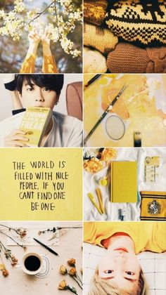 """Only the gentle are ever truly strong"" Seokjin Hufflepuff Aesthetic  Like/reblog if you save"