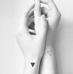 minimal yin-yang tattoo