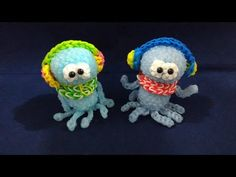 かぎ編みで編む(Hook only)スプラトゥーン クラゲ(Splatoon Jelly fish)レインボールーム(Rainbow loom) - YouTube