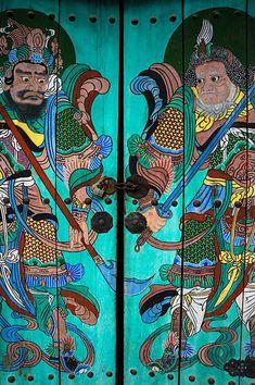 UNIT: Medieval Chinese Cataphracts 铁浮屠 -Prince Wuzhu and Battle Record Portal, Doors Galore, The Door Is Open, Unique Doors, Animal Projects, Painted Doors, Door Knockers, Doorway, Entry Doors