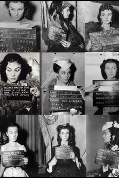 Make up stills of Vivien Leigh on the set of Gone With the Wind (1939)