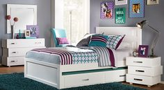 Affordable Girls Full Size Bedroom Sets for sale. Large selection of full size bed sets for girls. Available in many styles and colors: modern, contemporary, traditional, white, black, cherry, pine, etc.#iSofa #roomstogo