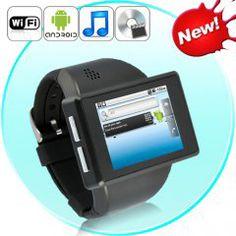 montre smartphone android 2.2 à écran tactile capacitif-appareil photo 2mp-micro carte sd 8go - rock