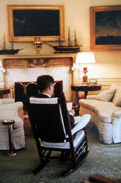 President John F. Kennedy in the Oval Office