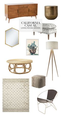 All the elements to create a California Casual living room design. Source by IlkaEliseB casual style Casual Living Rooms, Living Room Decor Cozy, Boho Living Room, Living Room Furniture, Estilo California, California Decor, Style At Home, Living Room Remodel, Home Fashion