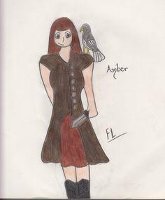 @elovescrafts's oc Amber I did for her @Faunalyn Leafwalker