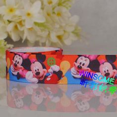 "50yards  1"" (25mm) Mickey & minnie mouse printed Grosgrain ribbon,DIY Mickey gift ribbon  Free shipping-in Ribbons from Apparel & Accessories on Aliexpress.com $18.50"