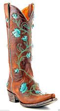 OLD GRINGO ABBY ROSE WOMENS BOOTS BRASS WESTERN OVERLAY FLORETS