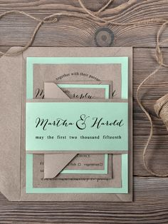WEDDING INVITATIONS calligraphy 05/ft/z #4lovepolkadots #rusticwedding #rusticinvitation #burlap #lace #weddingideas #weddingstyle #invitation #invitations #forestwedding #ecowedding #bridetobe #bridal #marriage #love #whiteday #weddings #lovebirds #boho #ecopaper #forest #mint