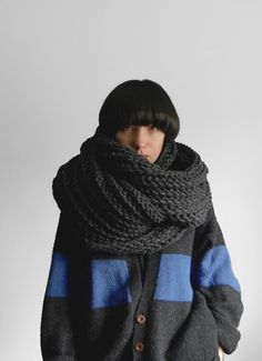 Charcoal Grey Supascarf by #Yokoo