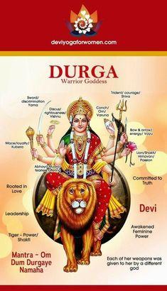 Fierce but loving Warrior Goddess. A new model of Feminine Leadershi… Durga Devi. Fierce but loving Warrior Goddess. Durga Maa, Shiva Shakti, Durga Goddess, Hanuman, Divine Mother, Sacred Feminine, Hindu Deities, God Pictures, Tantra