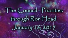 The Council - Priorities through Ron Head January 16, 2017