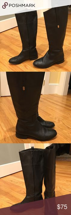 Cole Haan black leather riding boots Cole Haan black leather riding boots in good condition. Cole Haan Shoes