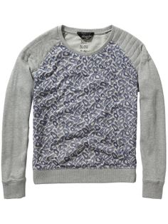 Geborduurde mesh sweater | Sweat | Dameskleding bij Scotch & Soda