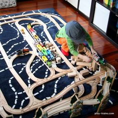 Playing Along with Blue Mountain Mystery @ Play Trains! How we limit screen time by transforming it into play, plus ideas for playing out the latest Thomas & Friends movie. Train Sets For Toddlers, Mystery Plays, Train Table, Wooden Train, Model Train Layouts, Thomas And Friends, Model Trains, Toy Trains, Train Tracks
