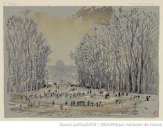 Jardin des Tuileries  Hubert Clerget, 1869