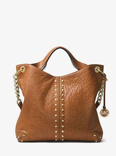 6041a3917b3a Michael Kors Astor Large Studded Leather Satchel