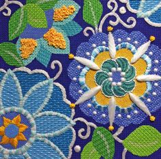 needlepoint flowers More