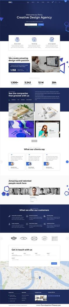 Pintu is clean and modern design #PSD template for creative #portfolio showcase #website with 5 homepage layouts and 24 layered PSD files to live preview & download click on image or Visit #psdmockups